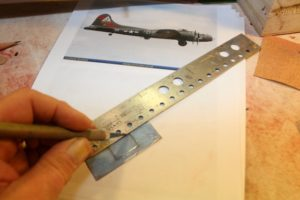 B-17-21-26 cut out the window inserts from more of that heavy clear plastic…